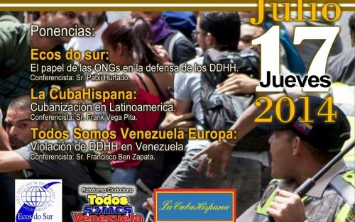 Conferencia: Protestas y derechos humanos. Caso Venezuela e Iberoamérica