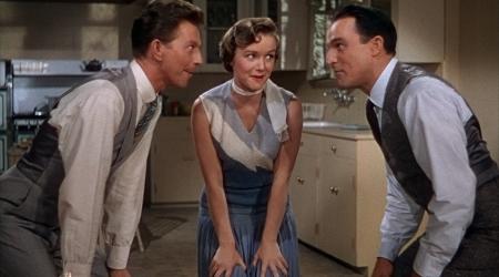 Donald O'Connor, Debbie Reynolds y Gene Kelly